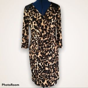 Thalia Sodi | Animal Print Faux Wrap Dress